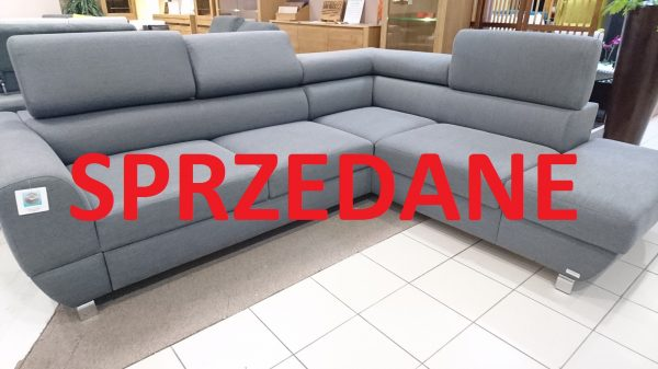 Emporio Caya Design Warszawa Naroznik z funkcją spania i pojemnikami Tkanina NOVELL 12 Fargotex sprzedane