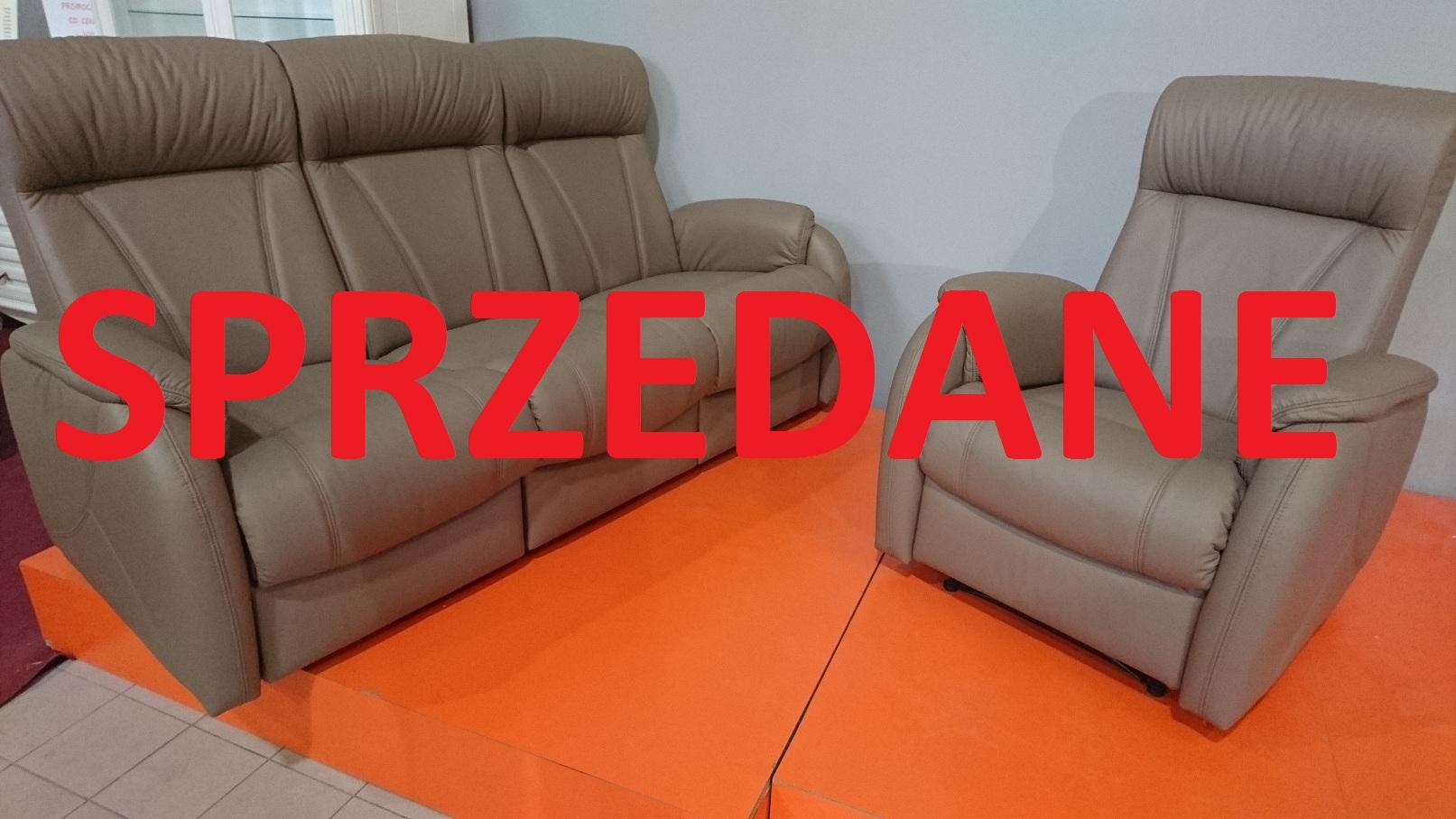 Lima Meble Bryłka Warszawa sofa z funkcją spania + fotel z relaksem SPRZEDANE