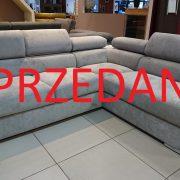 Ricardo Caya Design Warszawa narożnik z funkcją spania + pojemnik Promocja tkanina MILTON 14 Fargotex zagłówki ruchome SPRZEDANE