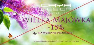 Majówkowe promocje caya design