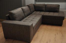 FIGARO Caya Design Warszawa Studio Komfort Narożnik z funkcją spania i pojemnikiem tkanina FALCO 03 Fargotex profil