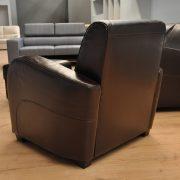 Ibiza Caya Design Warszawa Studio Komfort Ibiza Outlet Caya Design Bycast Dark Brown fotel tył