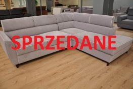 NOVEL Caya Design Warszawa narożnik z funkcją spania i pojemnikami tkanina AQUA CLEAN BELLAGIO 300 zagłówki SPRZEDANE