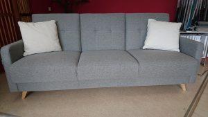 SCANDI Caya Design Warszawa sofa z funkcją spania i pojemnikiem tkanina OXFORD 27 3