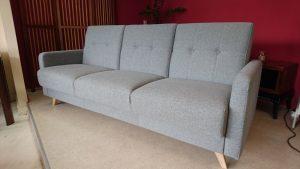SCANDI Caya Design Warszawa sofa z funkcją spania i pojemnikiem tkanina OXFORD 27