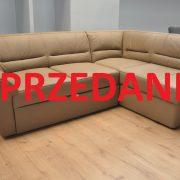 VICTORY Caya Design Warszawa Studio Komfort narożnik z funkcją spania i pojemnikiem w skórze sprzedane