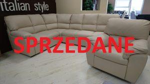 York Caya Design Warszawa Studio Komfort narożnik + fotel Skóra Toledo Betulla SPRZEDANE
