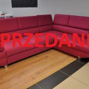AVANTI Caya Design Warszawa narożnik z funkcją spania i pojemnikiem tkanina DEKOMA Petrus Emperor-702 zagłówki SPRZEDANE