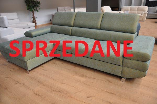 AVANTI z otomaną Caya Design Warszawa narożnik z funkcją spania i pojemnikiem tkanina FARGOTEX Cameleon 15 zagłówki SPRZEDANE