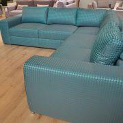 BIBLIO Caya Design Warszawa Studio komfort narożnik z funkcją spania i pojemnikiem tkanina CASSIO GLORMEB profil