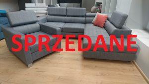 ENZO Caya Design Warszawa Studio Komfort narożnik z funkcją spania + fotel Tkanina KANKAN 754 SPRZEDANE