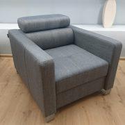 ENZO Caya Design Warszawa Studio Komfort narożnik z funkcją spania + fotel Tkanina KANKAN 754 fotel