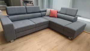 ENZO Caya Design Warszawa Studio Komfort narożnik z funkcją spania + fotel Tkanina KANKAN 754 rogówka