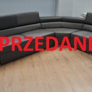 Lorenzo Caya Design Warszawa Studio Komfort narożnik z funkcją spania i pojemnikiem Włoska Skóra Naturalna Toledo Antracite SPRZEDANE