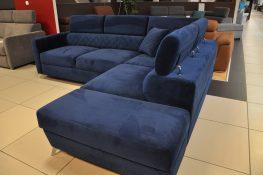MENTOR Caya Design Warszawa Studio Komfort narożnik z funkcją spania i pojemnikiem tkanina Manhattan od Glormeb profil