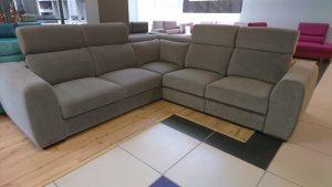 PALAZZO Caya Design Waarszawa Studio Komfort narożnik z elektrycznym relaksem i funkcją spania tkanina MAGIC HOME STONE 14 GREY Fargotex
