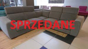 PALAZZO Caya Design Waarszawa Studio Komfort narożnik z elektrycznym relaksem i funkcją spania tkanina MAGIC HOME STONE 14 GREY Fargotex SPRZEDANE