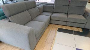 PALAZZO Caya Design Waarszawa Studio Komfort narożnik z elektrycznym relaksem i funkcją spania tkanina MAGIC HOME STONE 14 GREY Fargotex profil drugi