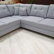 YOKO Caya Design Warszawa Studio Komfort narożnik z funkcją spania i pojemnikiem tkanina LINEA 10 od FARGOTEX