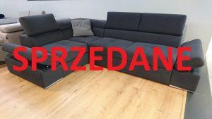 LORENZO CAYA DESIGN Warszawa Studio Komfort narożnik z funkcją spania i pojemnikiem na pościel tkanina CARABU 91 AQUACLEAN SPRZEDANE