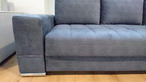 MATEO Caya Design Warszawa Studio Komfort sofa z funkcją spania i pojemnikiem tkanina bok
