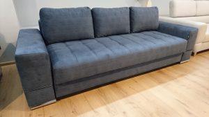 MATEO Caya Design Warszawa Studio Komfort sofa z funkcją spania i pojemnikiem tkanina profil