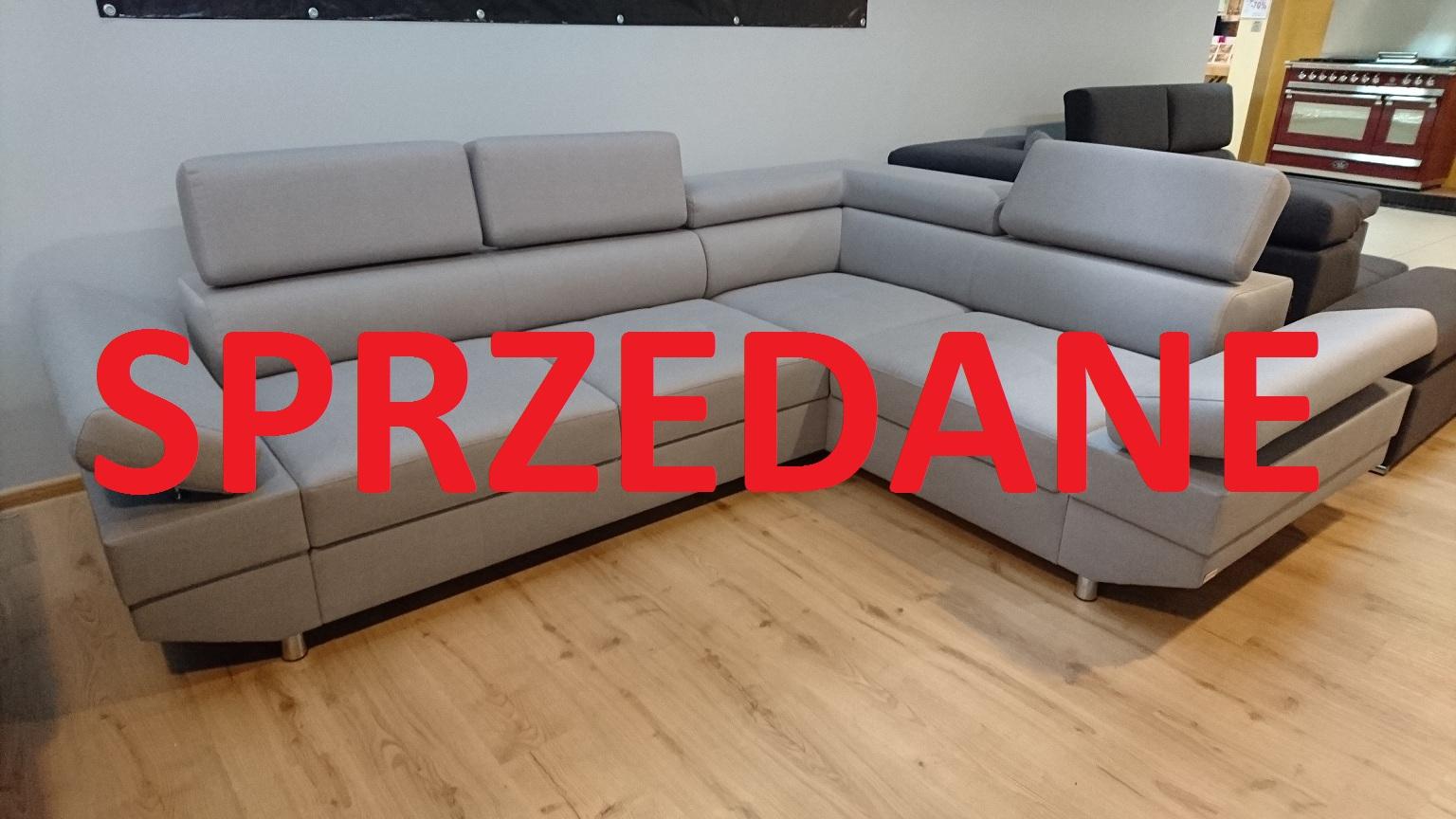 STRADA CAYA DESIGN Warszawa Studio Komfort narożnik z funkcją spania i pojemnikiem tkanina NOVELL 11 od FARGOTEX SPRZEDANE