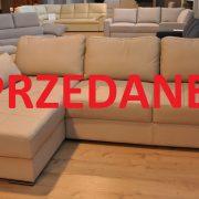 TWIST CAYA DESIGN Warszawa Studio Komfort narożnik z funkcją spania i pojemnikiem skóra HERMES SAND SPRZEDANE