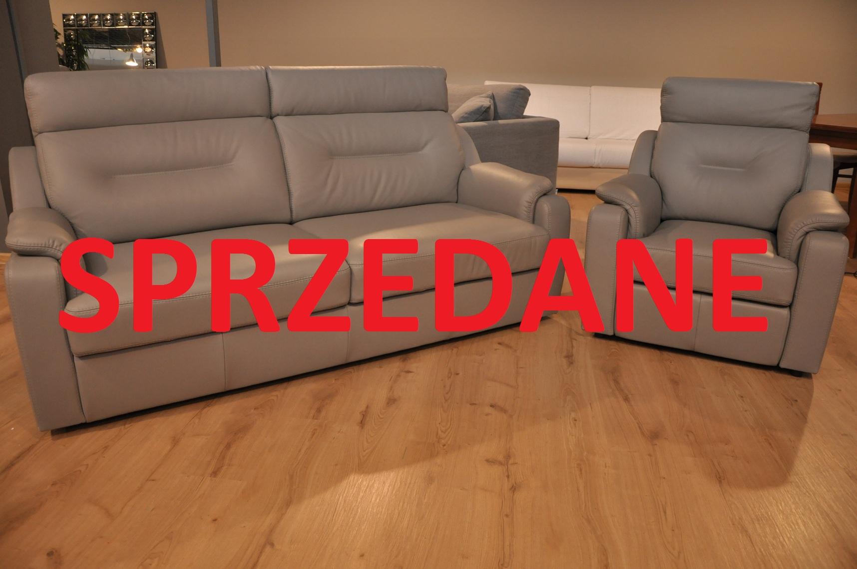 PAPAVERO STUDIO KOMFORT WARSZAWA ZMIANA EKSPOZYCJI sofa z funkcją spania fotel z relaksem skóra naturalna SPRZEDANE