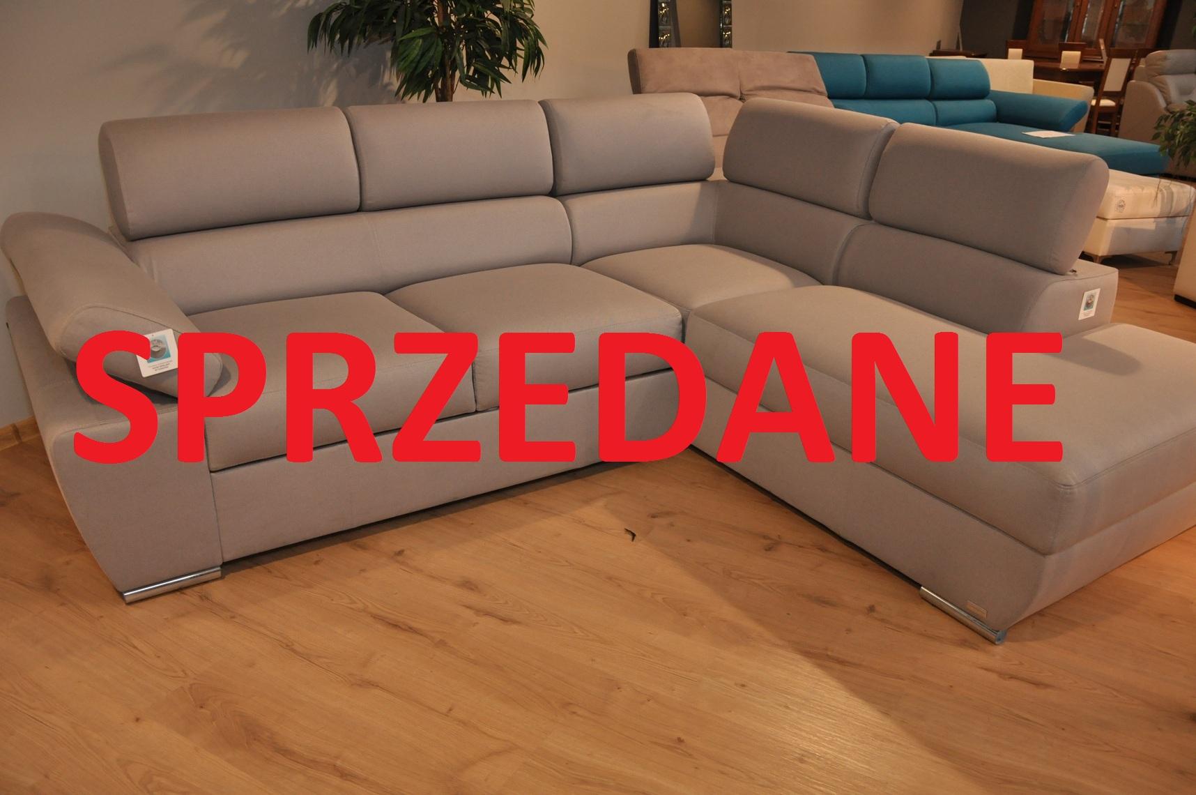 RICARDO Caya Design Warszawa STUDIO KOMFORT narożnik z funkcją spania i pojemnikiem tkanina NOVELL 11 Fargotex SPRZEDANE