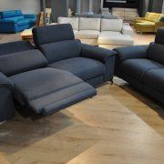 SHADOW EMMOHL Warszawa Studio Komfort Sofa 3 z funkcją relaks i sofa 2 Tkanina RIVOLI 47 sofa3 1 relax