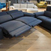 SHADOW EMMOHL Warszawa Studio Komfort Sofa 3 z funkcją relaks i sofa 2 Tkanina RIVOLI 47 sofa3 2 relaksy