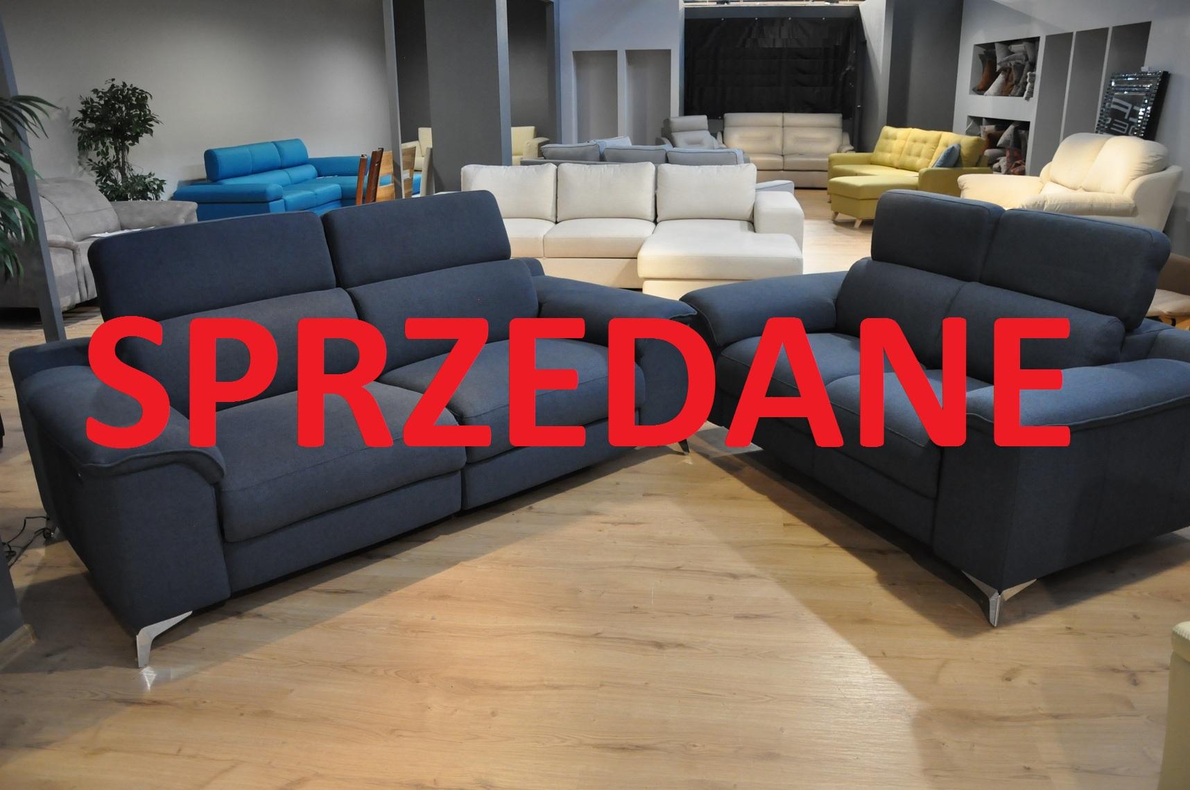 SHADOW EMMOHL Warszawa Studio Komfort Sofa 3 z funkcją relaks i sofa 2 Tkanina RIVOLI 47 zagłówki SPRZEDANE
