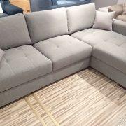 CASTELLO Caya Design Warszawa STUDIO KOMFORT narożnik z funkcją spania i pojemnikiem tkanina OXFORD od Fargotex