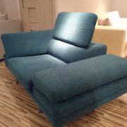BRUNO fotel CAYA DESIGN Warszawa Studio Komfort Tkanina MYSTIC 37 AQUACLEAN profil