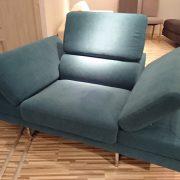 BRUNO fotel CAYA DESIGN Warszawa Studio Komfort Tkanina MYSTIC 37 AQUACLEAN rególowane podłokietniki