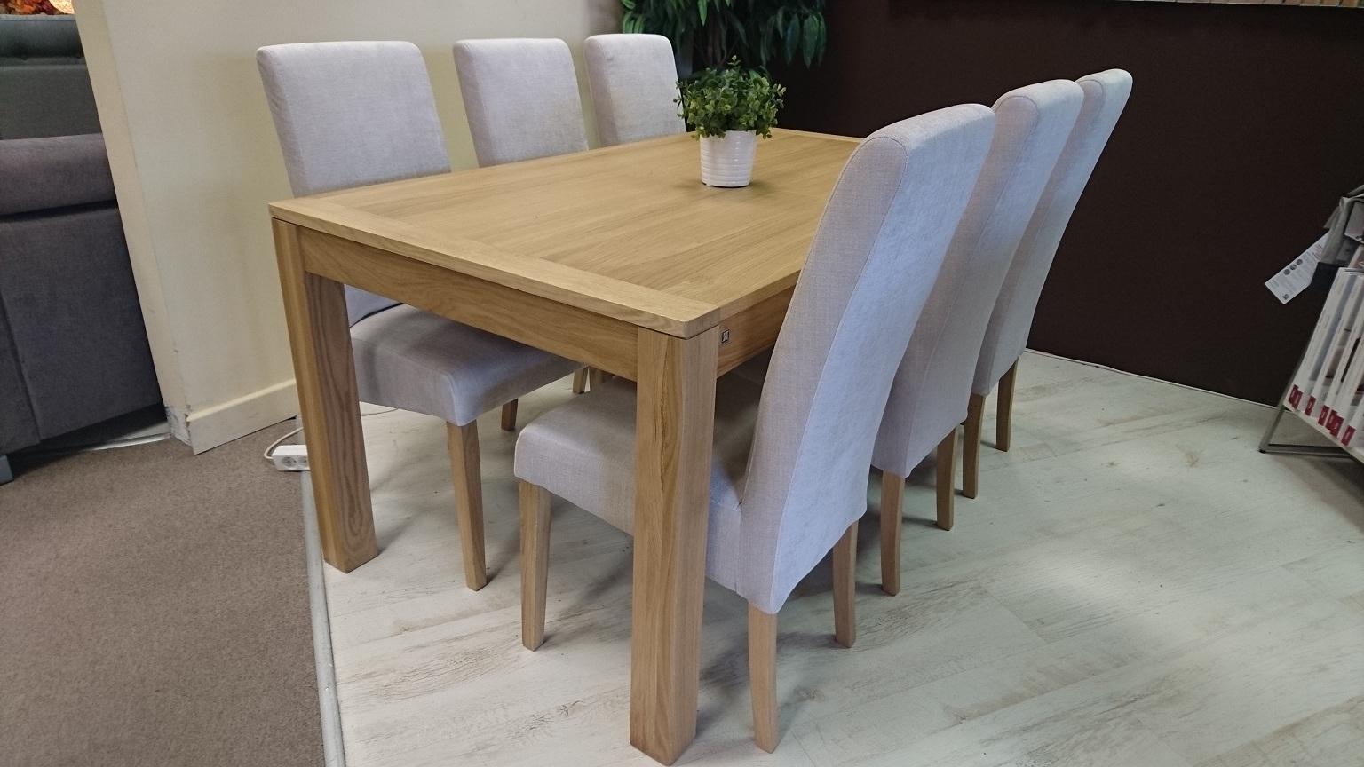 MALAREN stół HORYZONT krzesła STUDIO KOMFORT WARSZAWA stół 160 rozkładany krzesła tkanina SPIRIT 02