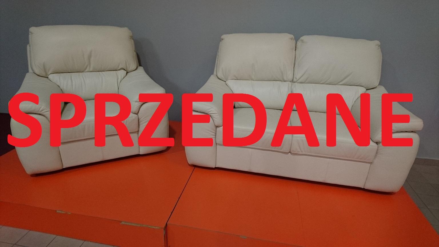 MALEZJA Meble Bryłka Warszawa STUDIO KOMFORT sofa 2 i fotel Skóra naturalna SPRZEDANE