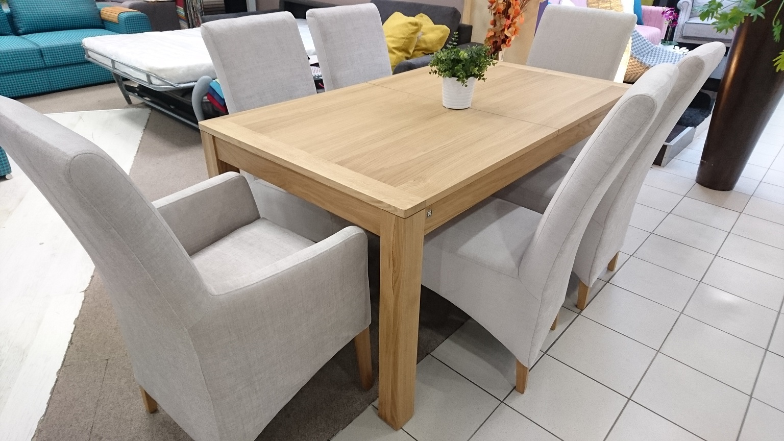 MALAREN stół ADAM krzesła ADAM FOTELIKI STUDIO KOMFORT WARSZAWA stół 160 rozkładany krzesła tkanina SPIRIT 02
