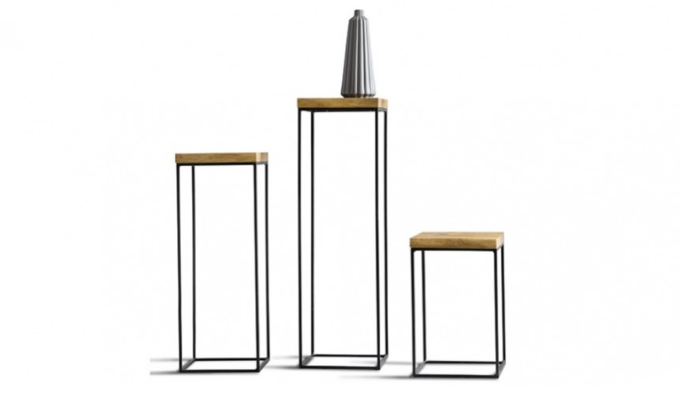 LOFT Caya Design Meble Warszawa stoliki, słupki 7001, 7002, 7003