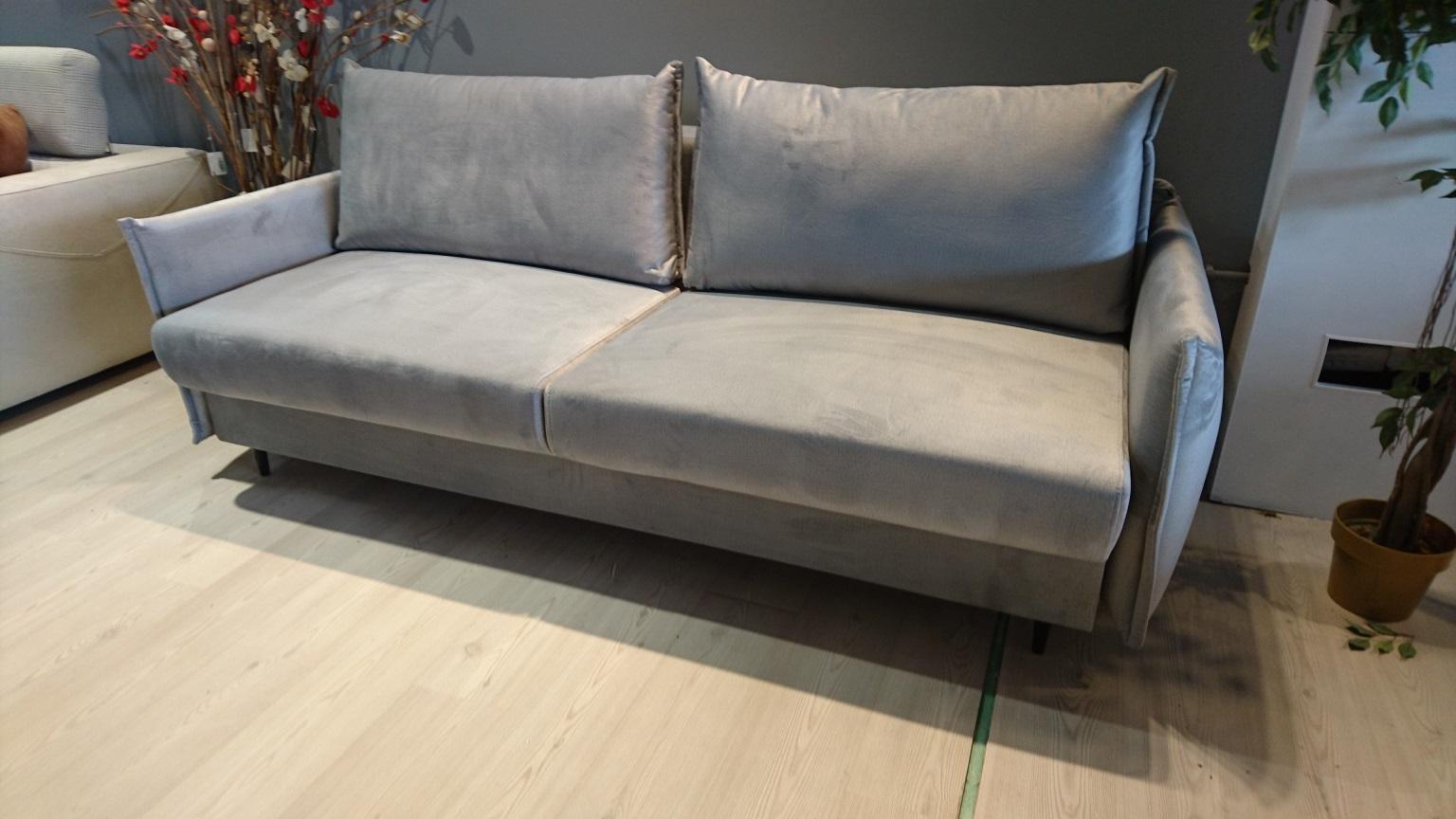 EGO Caya Design Warszawa meble STUDIO KOMFORT sofa z funkcją spania i pojemnikiem tkanina MONOLITH 84