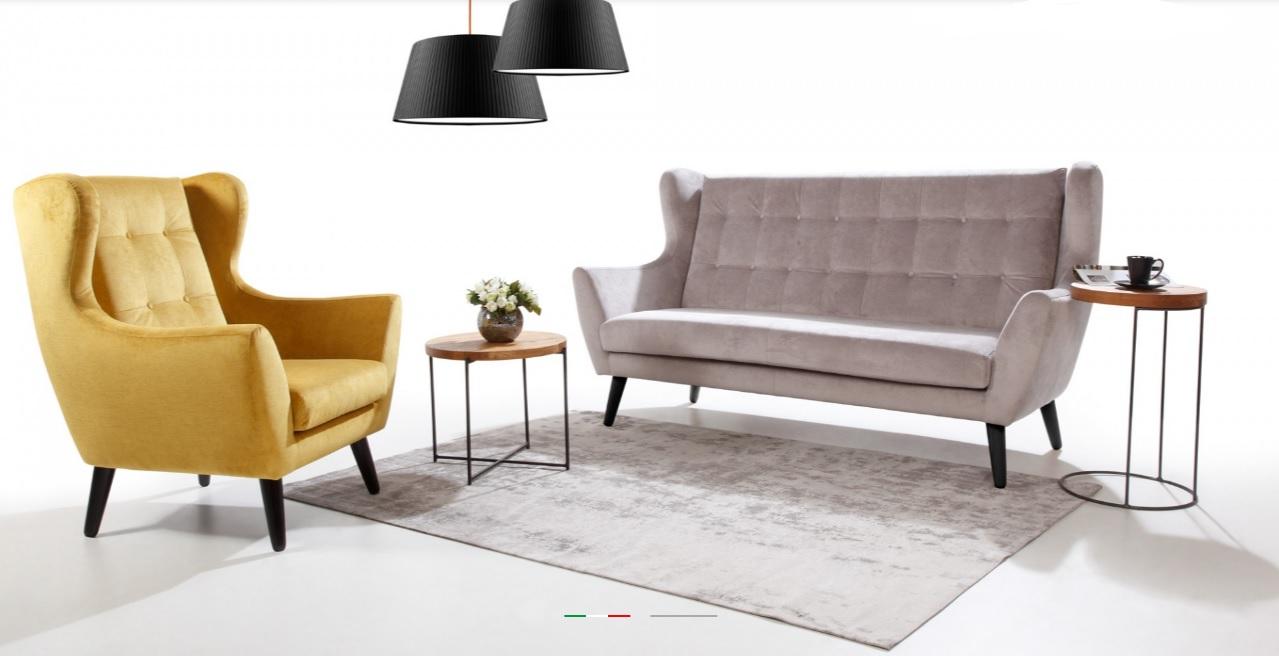 CLEO Caya Design Warszawa STUDIO KOMFORT sofy + fotel