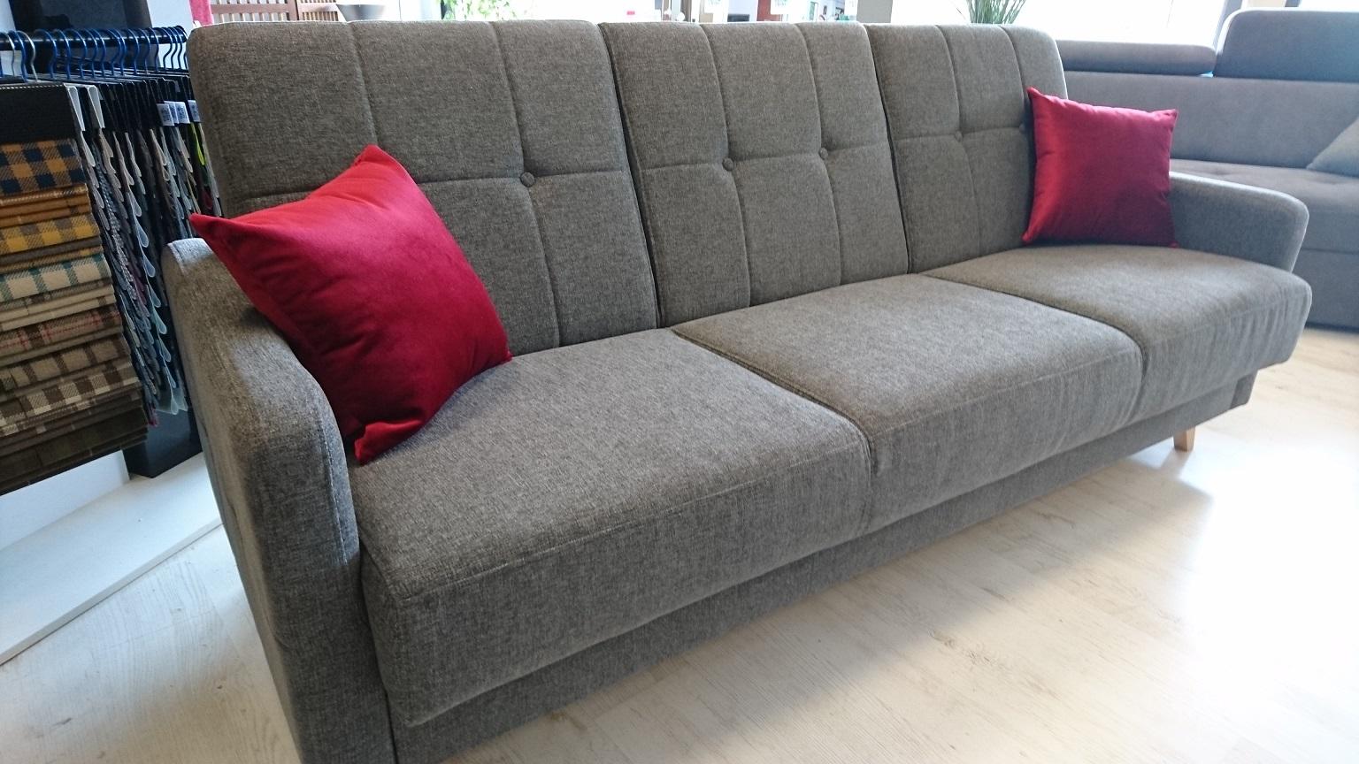SCANDI CAYA DESIGN Meble Warszawa STUDIO KOMFORT sofa rozkładana z funkcja spania i pojemnikiem tkanina SOFTI Magic Home FARGOTEX