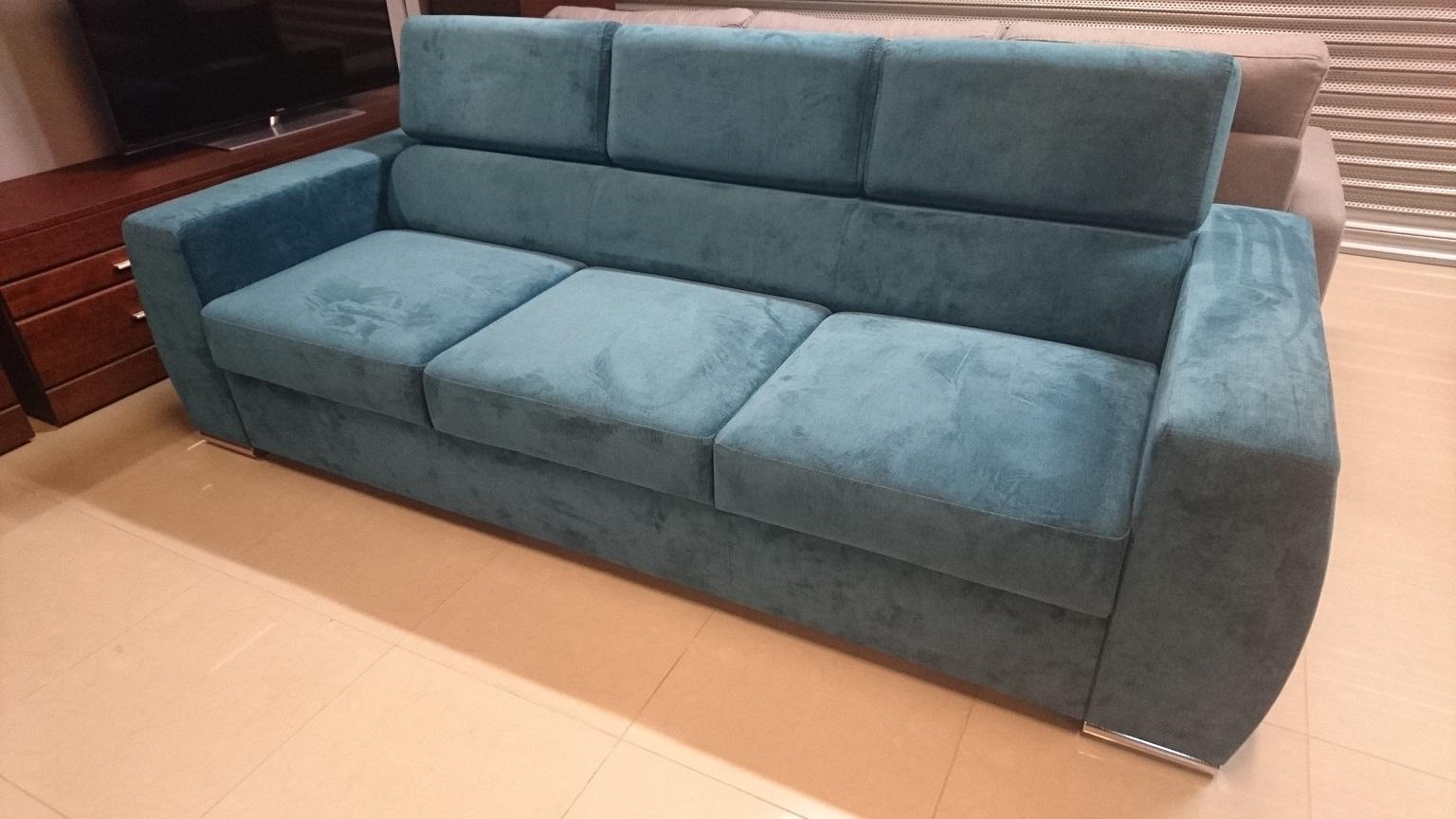 VENTO CAYA DESIGN Meble Warszawa STUDIO KOMFORT sofa rozkładana z funkcją spania tkanina hydrofobowa MILTON NEW 12 FARGOTEX Turkus